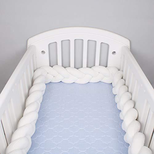 Juego de accesorios de decoración de cama circundante anticolisión para protección de colchón de recién nacido lateral de parachoques de cuna suave