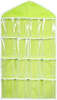 Lc Retail 16 Pockets Clear Hanging Bag For Socks Bra Underwear Cupboard Rack Hanger Storage Organiser