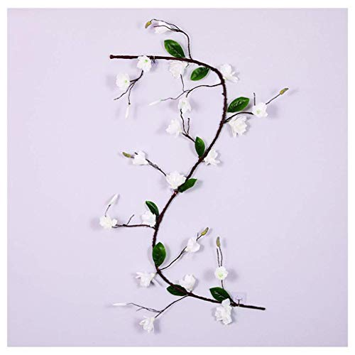 zvcv Artificial Magnolia Blossom Wall Hanging Vine Silk Floral Garland Flowers String Fake Flowers Garland For Home Wedding Arch Outdoor Garden Wall Decor Party Decoration,Red