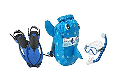 Mares Head Italian Collection Premium Youth Sea Pals Character Kids Mask Fin Snorkel Set Snorkeling Gear - Ultra-Clear Tempered Glass Lens Snorkeling Set