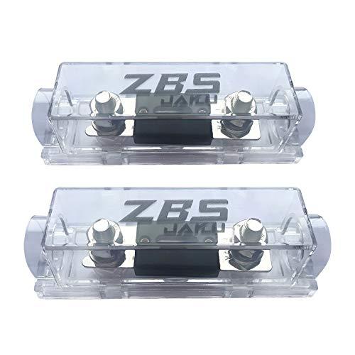 ZBSJAKU 0/2/4/8 Gauge AWG ANL Fuse Holders(2 Pack)+100 Amp ANL Fuses (2 Pack) for Car Audio/Alarm/Amplifier(2 Pack)