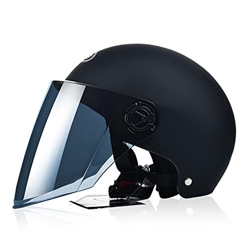 SACKDERTY Casco de Ciclismo para monopatín al Aire Libre - Ventilación con Forros extraíbles, Medio Casco de Motocicleta de Carreras con Visera para el Sol Aprobado por Dot