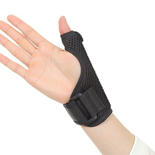 AmenityLife 拇指サポーター 親指サポーター 通気性良好 メッシュタイプ 腱鞘炎 バネ指 CM関節 突き指 捻挫 リハビリ テーピング 左右兼用 (L(男性向け))