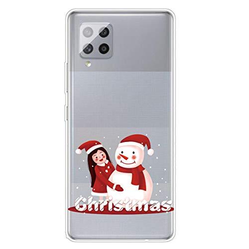 Unichthy - Cover protettiva in silicone morbido antiurto per Samsung Galaxy A42 5G, motivo natalizio con cartoni animati, ultra sottile, trasparente in gel TPU per Samsung A42 5G Pattern-29