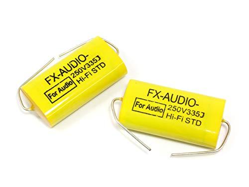 FX-AUDIO- 限定生産製品専用オーディオ用ポリエステルフィルムコンデンサ 250V 3.3μF 335J 2個セット ネッ...