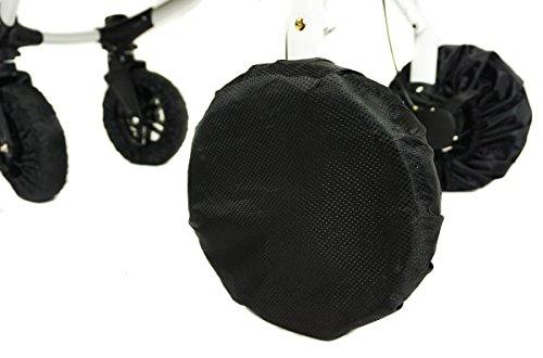 Baby Reifenschutz für Kinderwagenräder 1 Stück Radschutz Abdeckungen Schwarz Kinderwagen Buggy Groß Geschlossen 11
