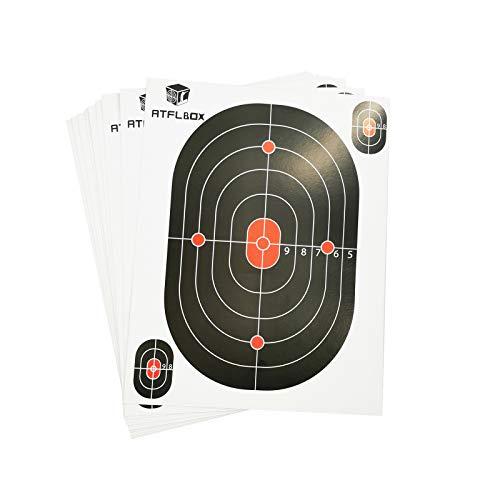 Atflbox 7 x 9 Inch BB Gun Target Papers for Pellet Trap Shooting Target Holder, Pack of 50