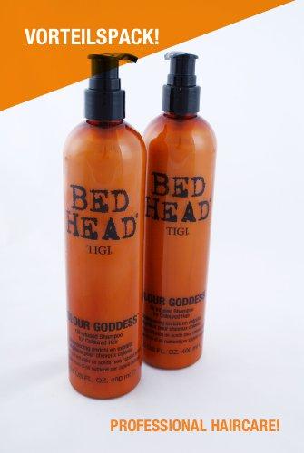 TIGI Bed Head Colour Goddess Oil Infused Shampoo for Coloured Hair 2er Pack (2x400ml)