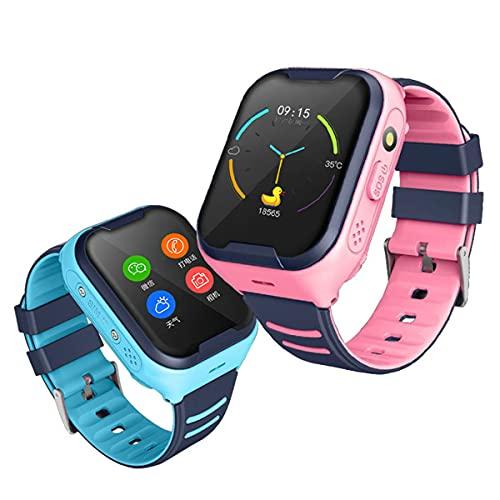 TTSLVS Reloj Inteligente para niños para niños y niñas, Pantalla táctil HD, Reloj Inteligente Deportivo, teléfono con cámara de Llamadas, para niños, Estudiantes Adolescentes,Rosado