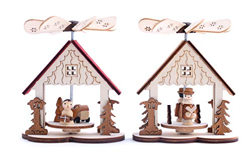 BRUBAKER 2-Pack Small Christmas Pyramids - Designed in Germany