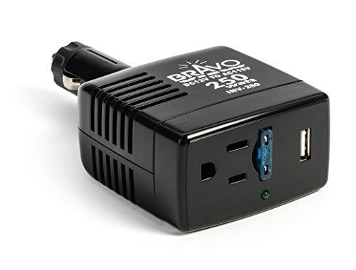 Bravo View INV-250 - 250-Watt Power Inverter with USB Charging