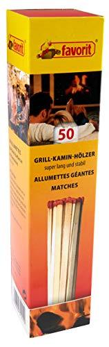 Favorit Streichhölzer, 50 Stück, extra lang, Anzünder, Ofenanzünder, Kohleanzünder, Anzündwürfel, ökologisch – 1241
