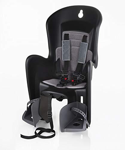 Polisport Fahrrad Kindersitz | bis 22kg Körpergewicht | Rahmenschnellbefestigung | 5-Punkt-Sicherheitsgurt | ergonomische Sitzschale