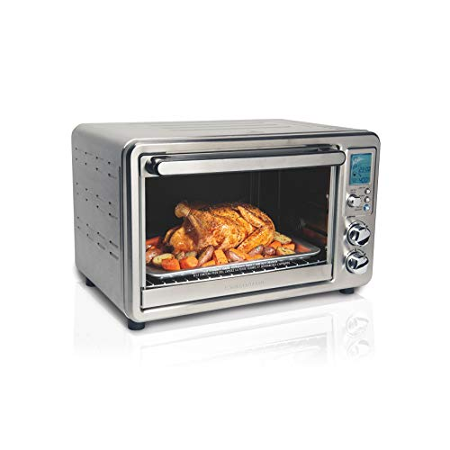 Hamilton Beach Digital Convection Countertop Toaster Oven with Rotisserie, Large 6-Slice, Stainless Steel (31190C)