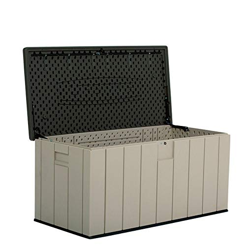 Garden Storage Cabinet Outdoor Storage Box 150-Gallon All Weather Waterproof Outdoor Locker For Patio Lawn Garden Outdoor Balcony Waterproof Debris Storage ( Color : Gray , Size : 150.7x71.9x69.1cm )