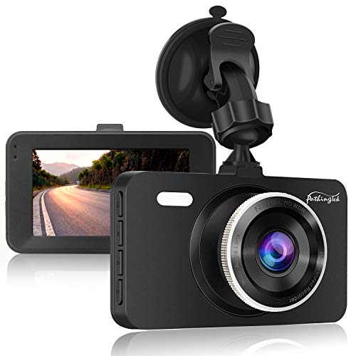 Dash Cam 1080P DVR Dashboard Camera Full HD 3' LCD Screen 170°Wide Angle, WDR, G-Sensor, Loop Recording Motion Detection Excellent Video Images(Black)