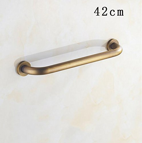 FAFZ Armadio in Bagno di Rame Vasca da Bagno d'oro Anziani Barre di Presa Racks Rotelle da Bagno Rack Metal Pendant Luxury42cm (Colore : 2*, Dimensioni : 42cm)