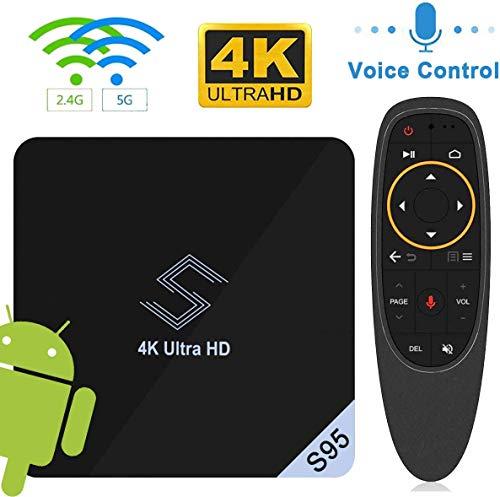 DOOK S95 Android 8.1 TV Box, Smart Box Vídeo Reproductor Multimedia 2GB RAM 16GB ROM S905X2 Quad-Core Arm Cortex-A53 Soporte 4K H.265 100M LAN Enternet 2.4/5.0GHz WiFi, Caja de Televisor con USB 3.0