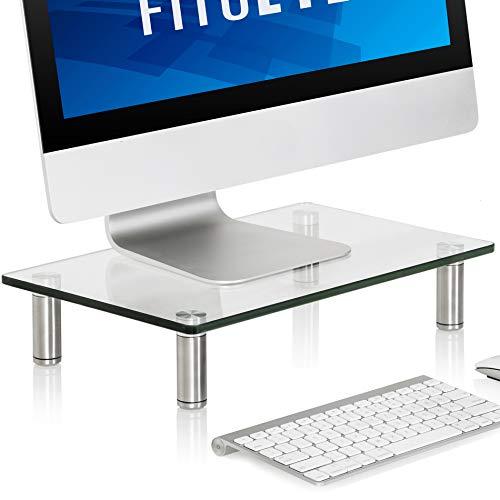 FITUEYES Cristal Soporte de Monitor de Portátil Elevador de Monitor Claro DT103801GC