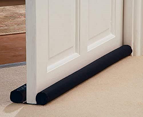 Ram® DOUBLE Sided Door Draft Excluder Self-Adhesive Tape Draught Insulator Strip Foam Seal Fits to Bottom of Door Under Door Draft Stopper 90cm Long
