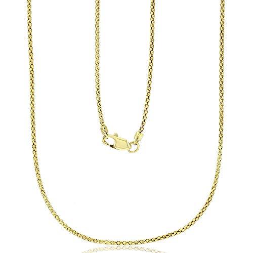 14k yellow gold popcorn chain - 7