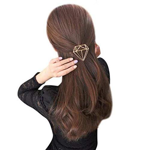 mitetuboueki ダイヤモンド型 ヘアクリップ ヘアアクセサリー ジュエリー まとめ髪に ヘアアレンジ クリップ ヘアピン レディース ファッション 金 銀 l52-1 (シルバー 銀)