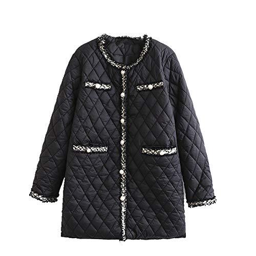NP Vêtements de coton rembourré pour femme à col rond Taille M et long - - XL