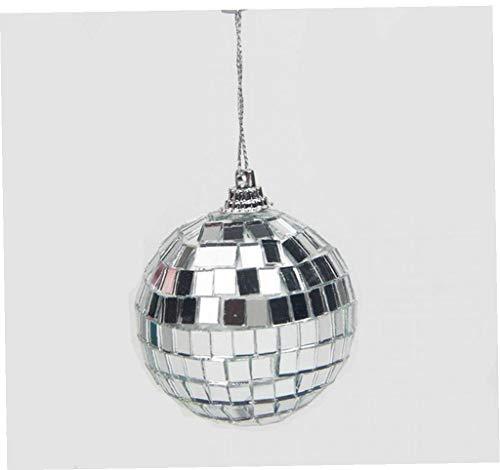 BYFRI Mini Disco Ball Mirror with Fastening Strap for Christmas Xmas Tree Ornament 5cm