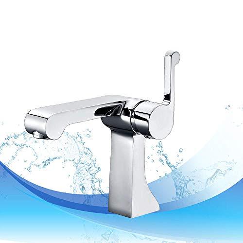 VZJSLT Moderne waterkraan, retro-waterkraan, 360 graden draaibaar, roestvrij staal, waterkraan, eenhandskraan, keukenkraan, badkamer, waterkraan, koper, koelkast, bekken, waterkraan