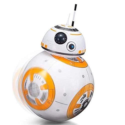 Star Wars BB8 Roboter 2.4G Fernbedienungsroboter Intelligentes Star Wars Upgrade RC BB8 Roboter mit Musik Sound Actionfigur Geschenkspielzeug Ball BB-8 Für Kinder