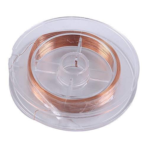 Magnet Draht, Kupferlackdraht Lackierter Magnet Wickeldraht 0,2 mm x 50m für Induktivitäten von Elektromagnet-Motortransformatoren