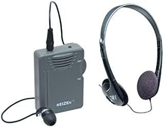Elite Package: Reizen Loud Ear 120dB Gain Personal Amplifier with Earphone and Extra Headphones