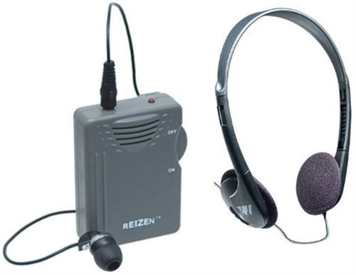 Elite Package: Reizen Loud Ear 120dB Gain Personal Amplifier with Earphone and Extra Headphones