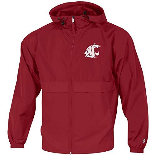 Champion Men's Washington State University Jacket Full Zip Windbreaker Jacket (XX-Large)