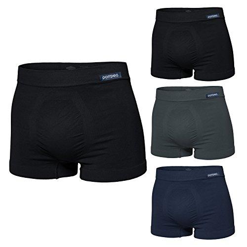 POMPEA Pack 4 Paia Slip/Boxer Uomo Microfibra Colori Assortiti (4 Paia Boxer Assortito - L/XL - 50/52 / 54)