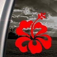 Hibiscus Red Decal Flower Car Truck Bumper Window Red Sticker