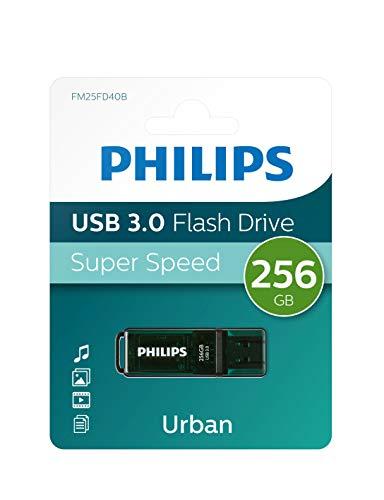Pen Drive Philips da 256gb USB 3.0 FM25FD40B/00 pendrive chiavetta chiavina pennina ad altà velocità 256 gb con capuccio e portachiavi