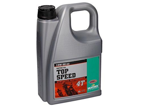 Motorex Top Speed 4T 15W/50 - Aceite sintético para motor de 4 tiempos (4 L)