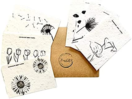 Including Flower and Herb Seeds Plantable Notebook Homemade Seed Paper with Eco Pen Biodegradable,100/% Natural Sustainable Eco Friendly Gift