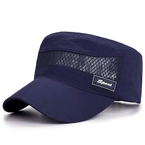 Lässig Atmungsaktiv Sonnenabdichtend Trocken Ingahat Dünnen Sonnenhut 56-60cm Sport dunkelblau