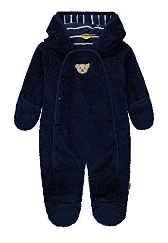 Steiff Baby-Jungen Overall 1/1 Arm Plüsch Schneeanzug, Blau (Medieval Blue|Blue 3062), 68