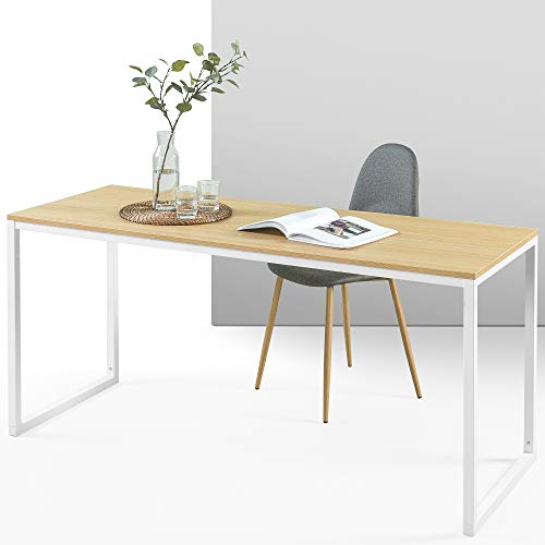 ZINUS Jennifer 160 cm Escritorio para ordenador portátil | Escritorio de estudio para oficina en casa | Montaje sencillo | Estructura metálica | Natural