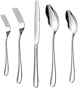 20-Piece Bokadzi Mirror Polished Stainless Silverware Flatware Cutlery Set