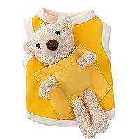 犬の服子犬ノースリーブシャツ犬の服と小さな犬の夏のクマのベストヨーキーシーズーブルドッグペット用品