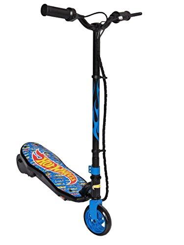 Hot Wheels, patinete eléctrico Unisex–Adulto, Azul, 50kg