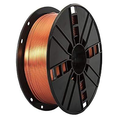 PLA Filament 1.75mm 1kg, TINMORRY Tangle-free Filament PLA 3D Printing Materials for 3D Printer, 1 Spool, Silk Copper