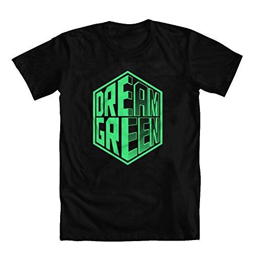 GEEK TEEZ Dota 2 Inspired Team OG Dream Green Men's T-Shirt Black Large