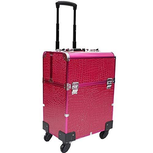 NFGHH Beauty Case malette à Maquillage avec Un Miroir et tiroirs et Un Compartiment Particulier de Brosse Grande Mallette Maquillage Onglerie Esthétique Professionnelle Verrouillable,Pink