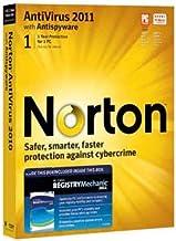 Norton Antivirus 2011 - 1 user PLUS PC Tools Registry Mechanic 2011