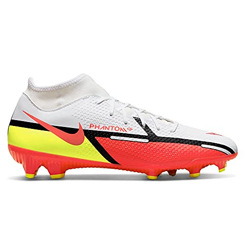 Nike Phantom GT2 Academy Dynamic Fit FG/MG, Zapatillas de ftbol Unisex Adulto, White Bright Crimson Volt, 41 EU